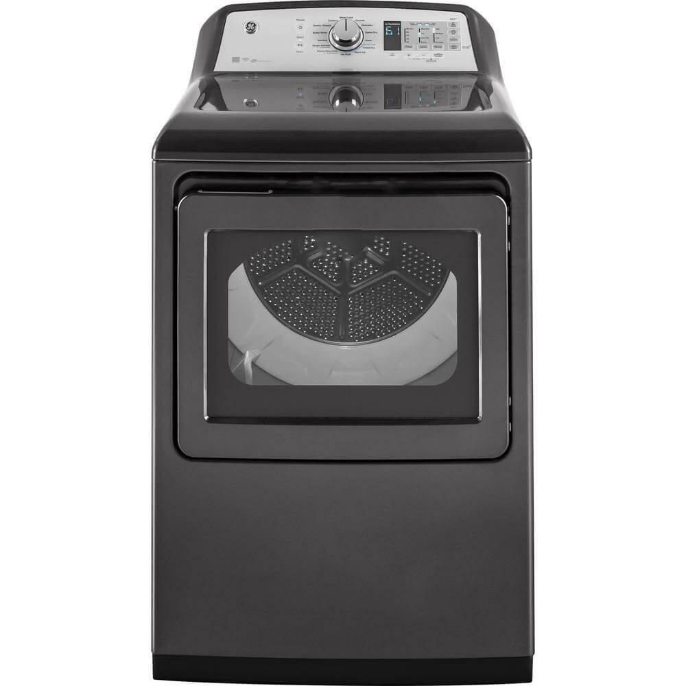 ge gtd75ecpldg 27 inch smart electric dryer with 74 cu ft capacity in