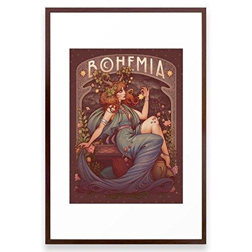 Society6 BOHEMIA Framed Print Conservation Walnut LARGE (Bohemia Walnut)