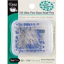Dritz Ultra-Fine Glass Head Pins, Size 22, 150-Pack