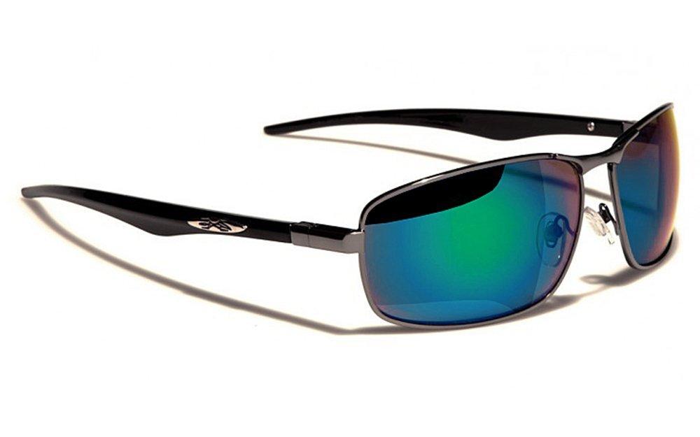 Xloop Sonnenbrillen - Mode - Fashion - Clubbing - Pilotenbrille - Radfahren - Skifahren - Laufen - Driving - Motorradfahrer / Mod. 4270 Grün Blau Spiegel