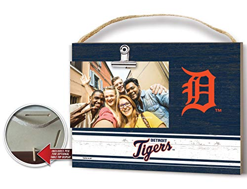 KH Sports Fan Clip It Colored Logo Photo Frame Detroit Tigers ()
