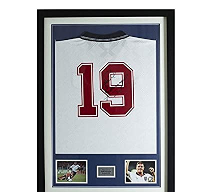 Sports Memorabilia Paul Gascoigne Signed and Framed England 1990 ...