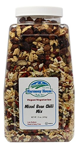 (Harmony House Foods Soup Mix, Mixed Bean Chili, 15 Ounce Quart Size Jar)