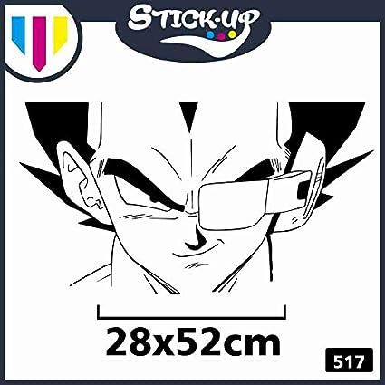 Adhesivo para aire acondicionado M/óviles Coche Moto Dragonball Z Comics Cartoon dibujos animados Sticker Piccolo 17x32cm Negro Adhesivo Vegeta Scouter Gradi Temperatura