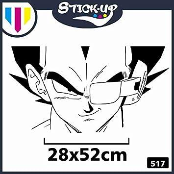 Adesivo per condizionatori MOBILI Auto Moto Stick-up Adesivo Vegeta Scouter Gradi Temperatura Piccolo 17x32cm Dragonball z Comics Cartoon Cartoni Animati Sticker