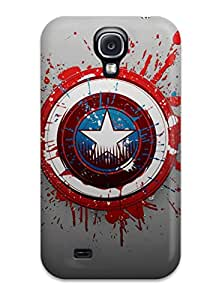 Top Quality Protection Captain America Logo Case Cover For Galaxy S4