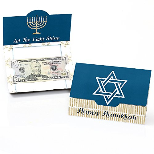 - Happy Hanukkah - Chanukah Money and Gift Card Holders - Set of 8