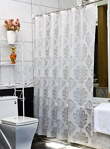 Uphome Damask Pattern Bathroom Curtain
