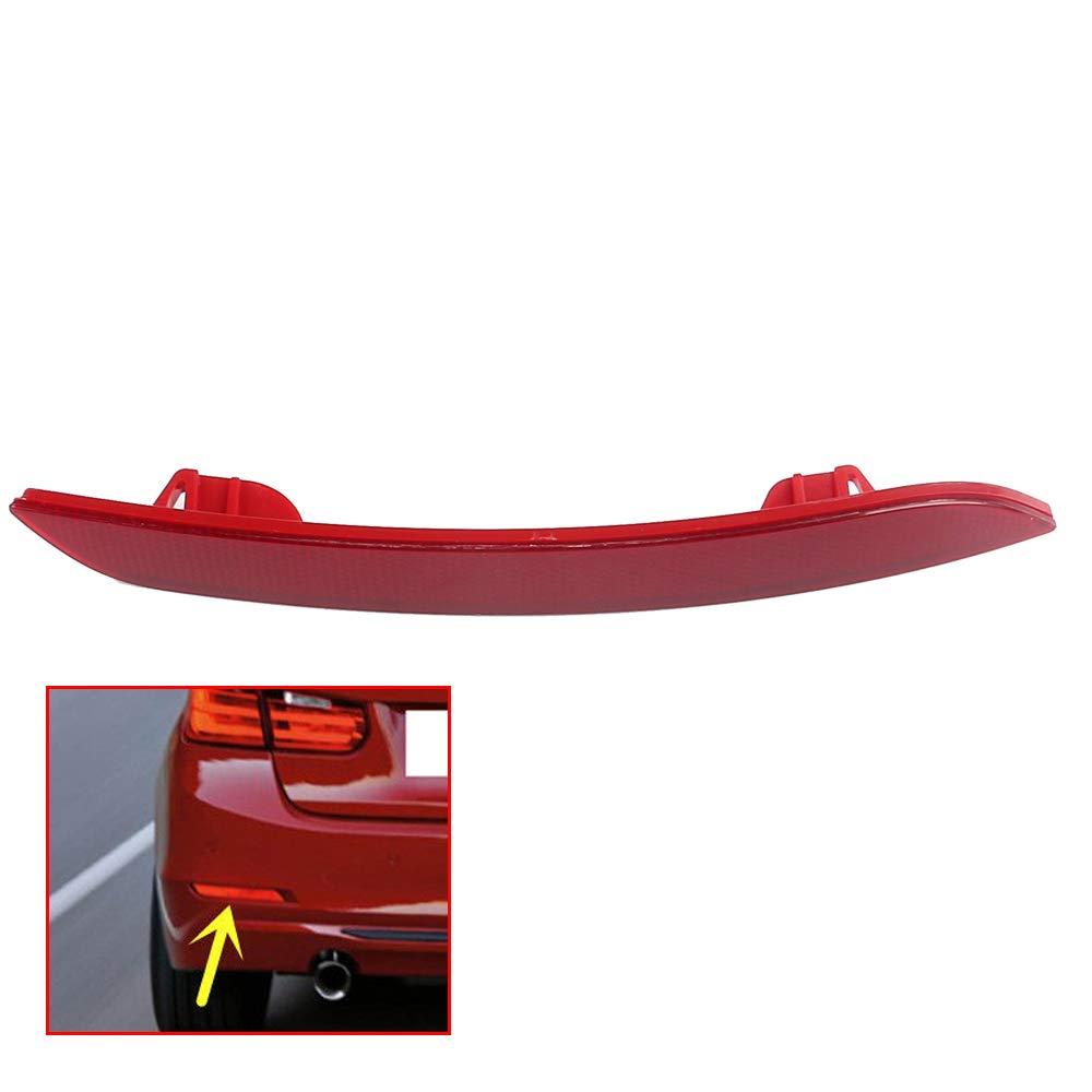 UPSM Rear Bumper Reflector Brake Warn Light Red Lens Left Side Fit for BMW F30 F31 F32 F33 F34 F35 F36 2011-2015 63147301187
