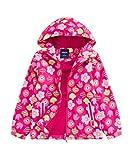 M2C Girls Outdoor Floral Fleece Lined Light Windproof Jacket with Hood 4/5 Rose