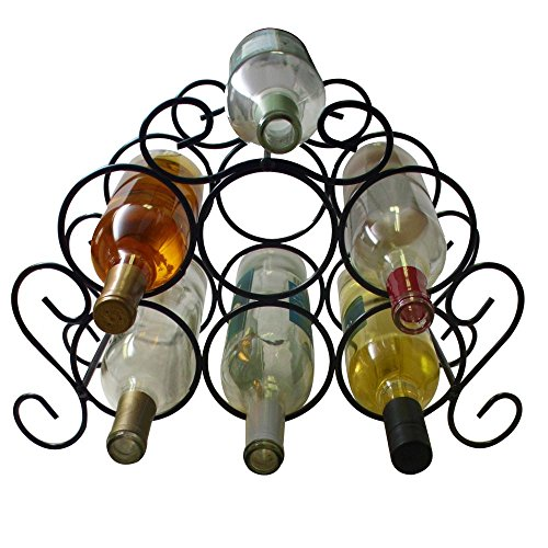 OKSLO 7 bottle minuet wine rack black (Wine Rack Minuet)