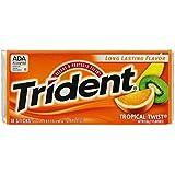 Trident Tropical Twist Sugar Free Mint, 18 Sticks - Pack of 2