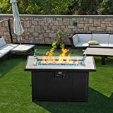 BALI OUTDOORS Gas Fire Pit Table Wind Guard Clear