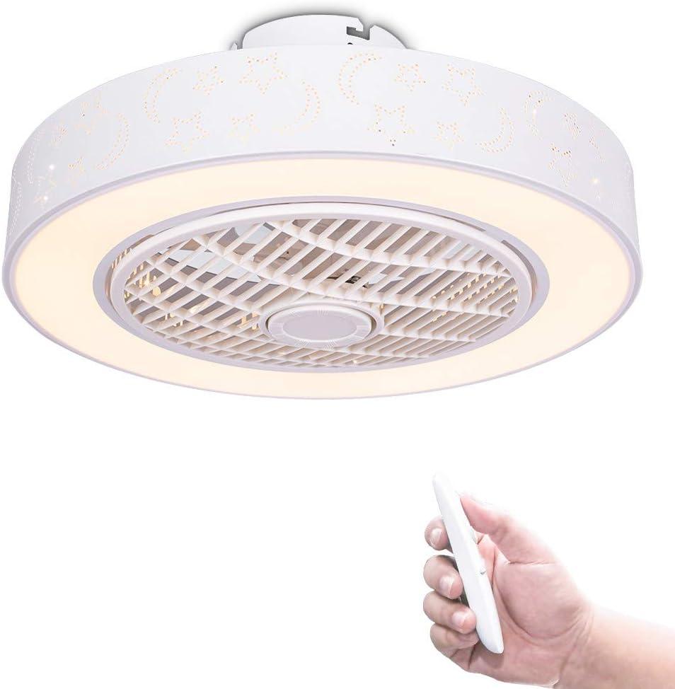 /Ø58CM con Mando a Distancia Y App Luz de atenuaci/ón Mudo Ventiladores de luz para Dormitorio Sala Encendiendo Regulable Ventilador Luces de Techo YUNZI LED Ventilador de Techo con l/ámpara