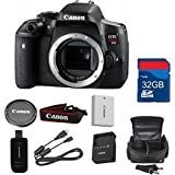 Canon T6i Digital SLR Body (No Lens) Deluxe Bundle + High Speed 32GB Memory Card + High Speed Reader + Wi-Fi Enabled - International Version