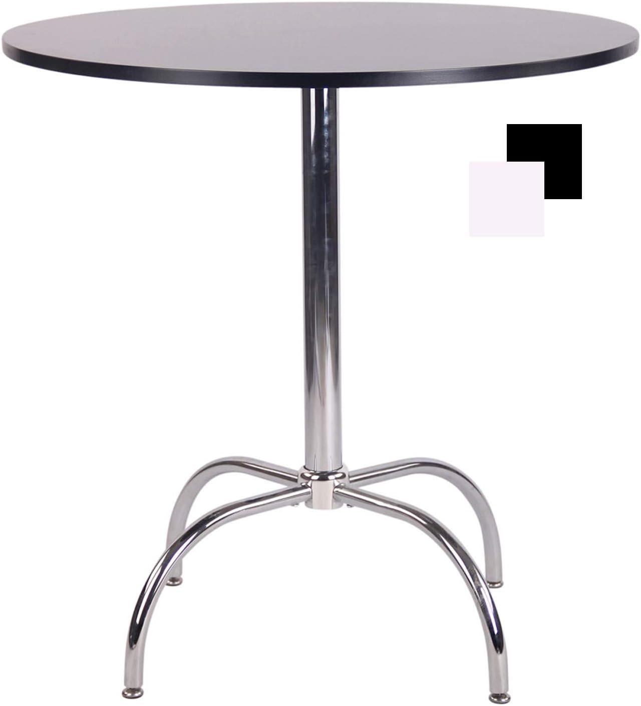vidaXL Tavolino da Bar Vintage Circolare Metallo Bianco Tavolo Bistrot Cucina