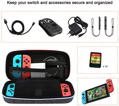 BAGSMART - Funda rígida para Nintendo Switch, color negro: Amazon.es: Videojuegos