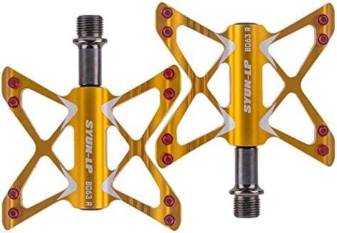 Huangjiahao Pedales de Ciclismo 3 rodamientos Bicicleta Mariposa Pedal Ligero de aleación de Aluminio Flexible montaña Carretera Pedal de Bicicleta Plegable par 9/16 Pulgadas para MTB BMX Bicicleta: Amazon.es: Hogar