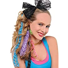 Amscan Awesome 80's Party Assorted Color Crimped Hair Extensions (5 Piece), Multi Color, 16.6 x 4.5""