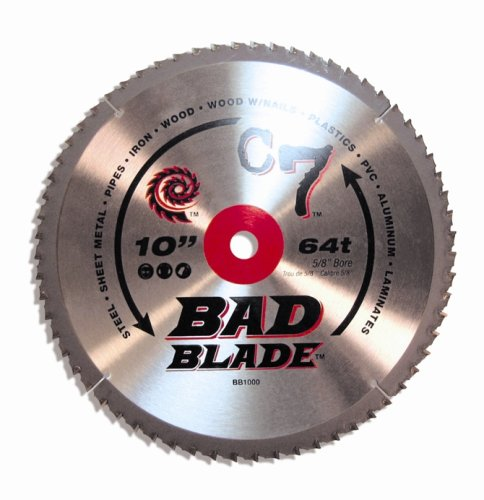 KwikTool USA BB1000 C7 Bad Blade 10-Inch 64 Tooth With 5/8-Inch Arbor by Kwik Tool