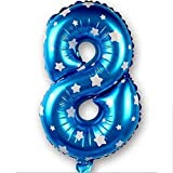 Lankcook 1PCs Number Balloon Baby Party Kids Birthday Decor,Balloon Decoration, Colorful Helium Balloons Make Your Event More Colorful (H)