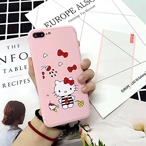 Full Body Casing Pink Red Hello Kitty iPhone 6 Plus Case White Yellow Cat Cartoon Character 6S Plus Cover Icrecream Pineapple Bow Kids Cute Animal Children Animated Mascot TV, Hard Plastic