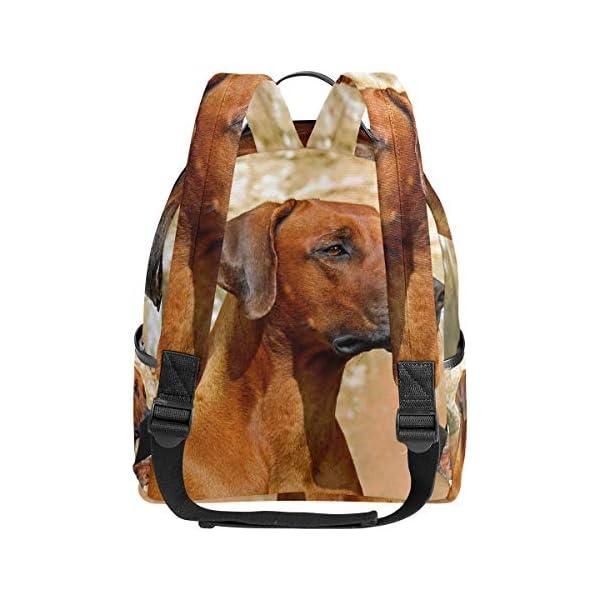 Rhodesian Ridgeback Dog Zaino per donne adolescenti ragazze borsa alla moda borsa per bambini viaggio college casual… 3 spesavip