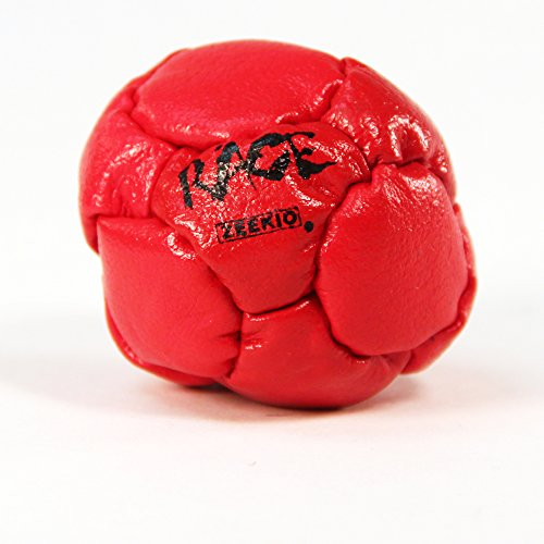 Zeekio Rage Footbag - Leather Grain - 12 Panel - Pellet Filled- Hand Stitched ()