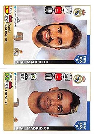 Amazon.com: 2015-16 Panini FIFA 365 Stickers #378-379 Daniel ...