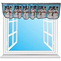 AutumnFall Christmas Snowman Couple Window Valance (B)