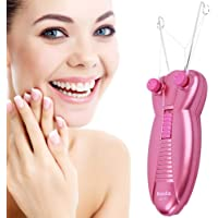 Women Facial Hair Remover, Ladies Beauty Epilator Trimmer Facial Cotton Threading Hair Shaver (Plug)