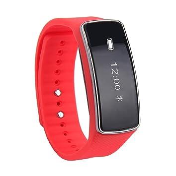 Reloj inteligente Sannysis Smartwatch IOS (4.0Bluetooth, 64KB RAM y 64KB ROM) (rojo)