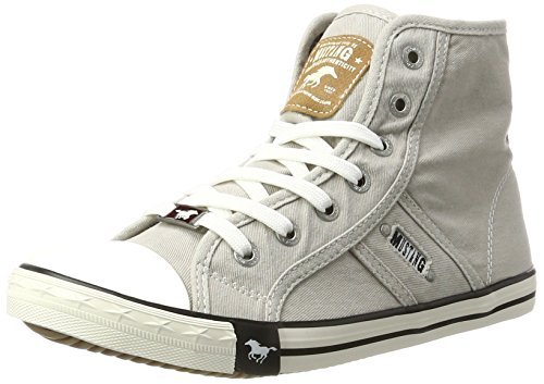 Mustang 1099-502-22, Women's Hi-Top Sneakers, Grey (Light Grey 22), 4.5 UK (37 EU) ()