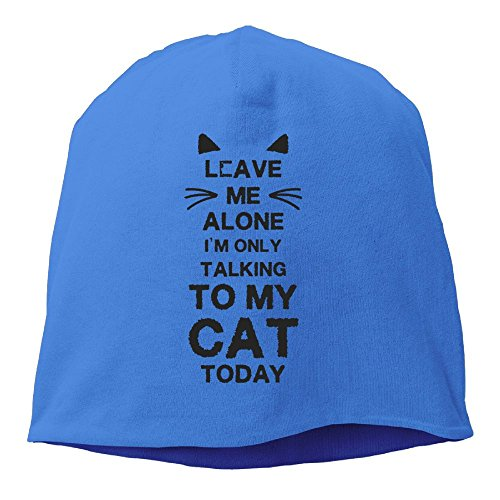 HNJI0JIAA New Design Adult Leave Me Alone Im Only Talking To My Cat Today Gift For Cat Lover Wool Cap Hat (Cat Lovers Monopoly Game)