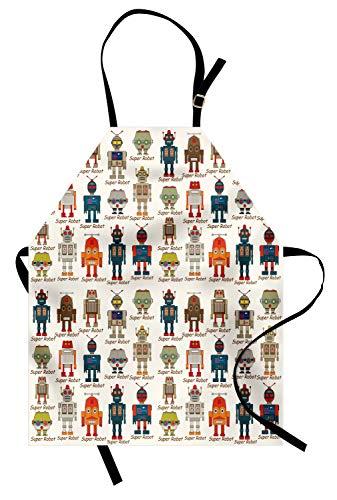 Futuristic Costumes Images - Ambesonne Robot Apron, Various Different Super