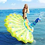 peacock inflatable raft pool float adult kids toys inflatable air mattress summer swimming pool