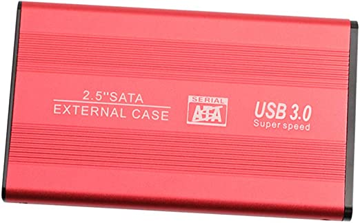 2.5インチ USB 3.0 SATA 外付ハードディスクドライブ 超スリム 赤色 - 2T