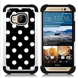 For HTC ONE M9 - dot black white punk Goth tie Dual Layer caso de Shell HUELGA Impacto pata de cabra con im??genes gr??ficas Steam - Funny Shop -