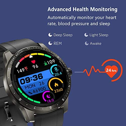 MorePro Smart Watch 20 Sport Modes Fitness Tracker Health Watch Body Temperature, Activity Tracker with Heart Rate Blood Pressure Sleep Monitor, IP68 Waterproof Smartwatch for Women Men 2