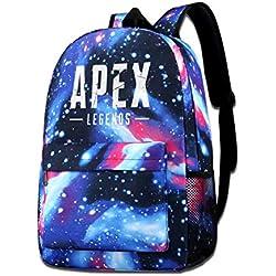 FXNOW Boys Girls Apex Legends Logo Galaxy School Backpack