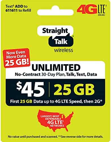 Straight Talk $45 30 Day Service Card (Mail Delivery)