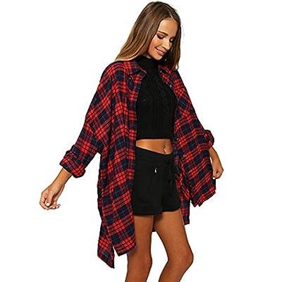 Womens Long Sleeve Flannel Plaid Shirts