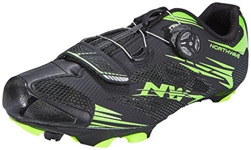 Northwave Scorpius 2 Plus MTB Fahrrad Schuhe schwarz/grün 2016: Größe: 44