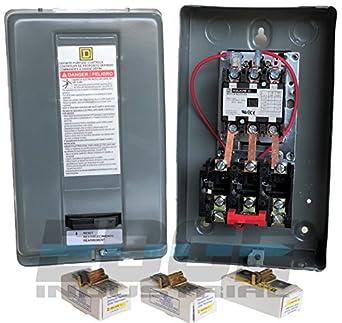 25 amp Motor Starter 7 5hp 3ph 230V definite purpose magnetic motor starter  from Square D 8911dpsg23v09