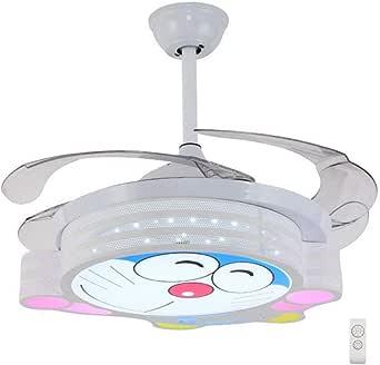 Ventilador de Techo con Luz Lámpara 107cm Dibujos Animados Gato Robot Invisible Ventilador De Techo LED Oscurecimiento De Tres Colores (control remoto): Amazon.es: Iluminación