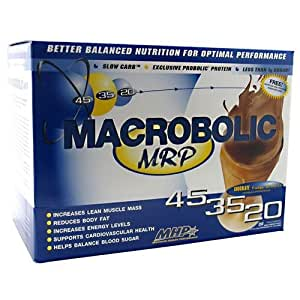 Macrobolic MRP, Meal Replacement, Chocolate Fudge Brownie, 20 Packets, From MHP