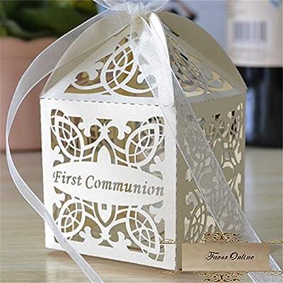 Amazon.com: Primera Comunión Laser Cut favor caja Favor Caja ...