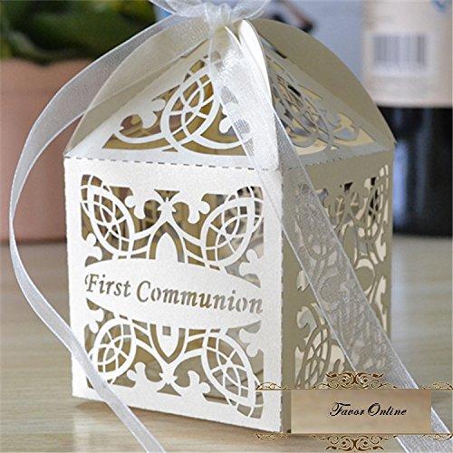 First Communion Laser cut Favor Box Favor gift box/religious