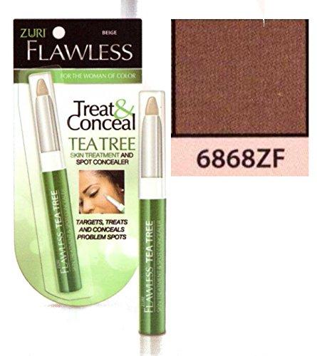 Zuri Flawless Treat & Conceal Tea Tree Skin Treatment & Concealer - Ebony