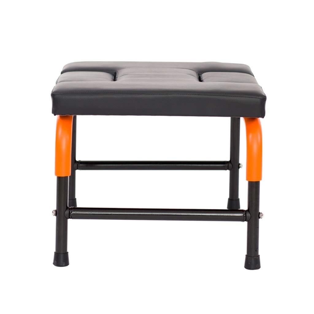 MZ Chaise inversée avec Coussin de siège, Chaise auxiliaire de Yoga avec accoudoirs, Tabouret inversé Home Fitness de 100 kg, Fitness inversé, Machine inversée Multifonctions - Noir